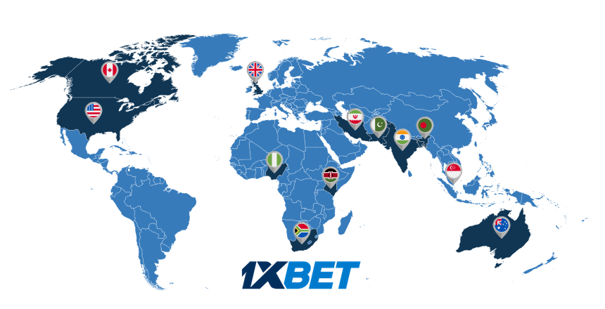 1xBet around the world