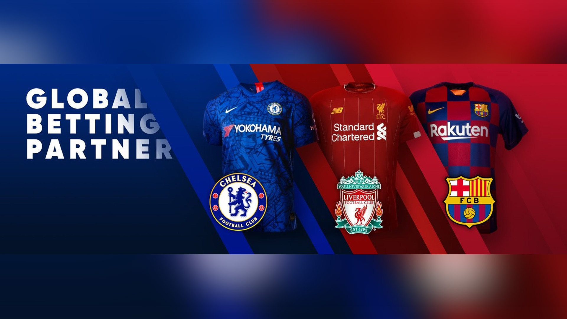 1xBet is a sponsor of Liverpool, Barcelona and Chelsea football clubs