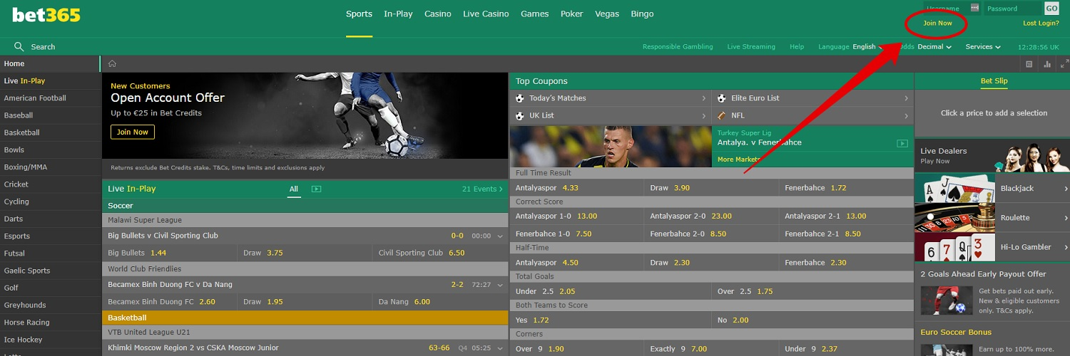bet365 login - How to create an account