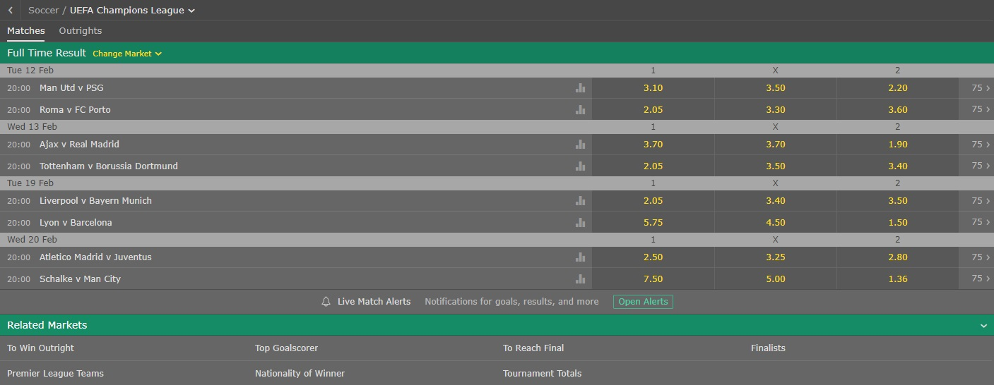 Bet 365 matches on sportbook