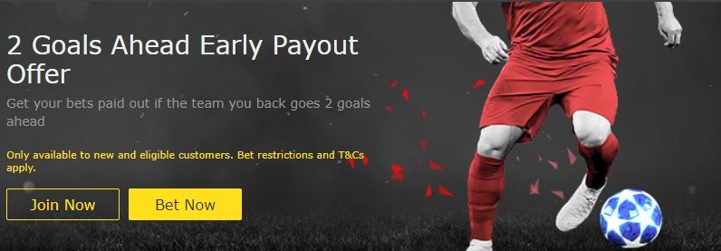 bet365 promo: Soccer early payout offer