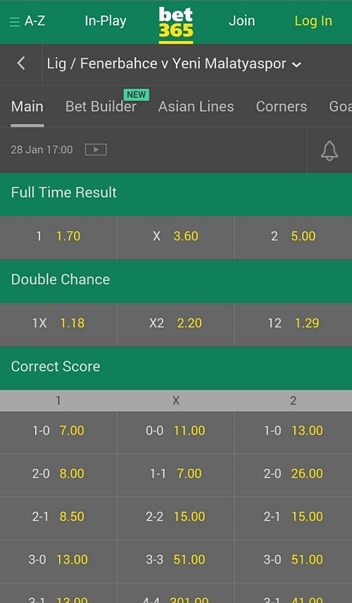 bet 365 app football betting