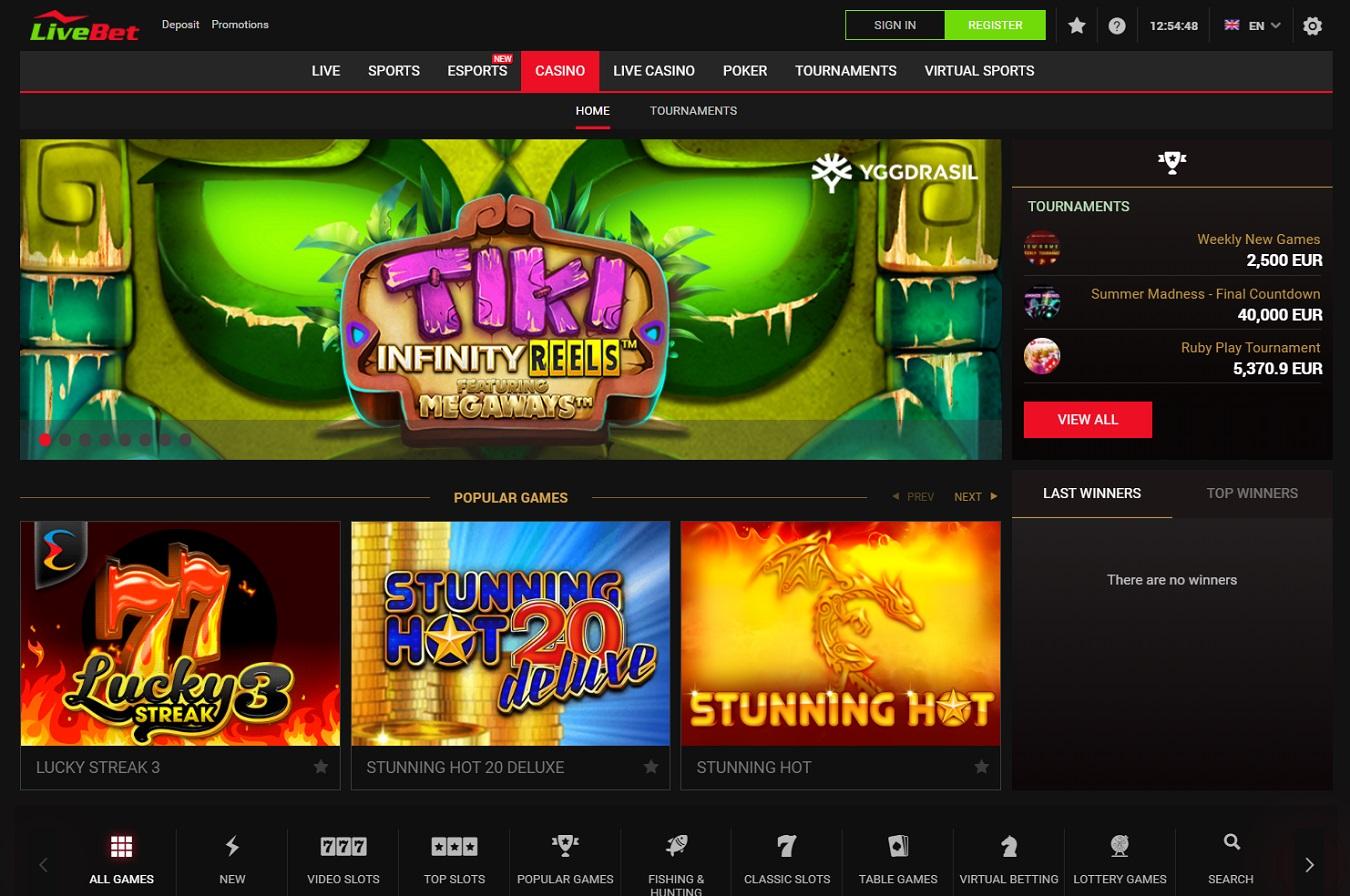 Livebet casino