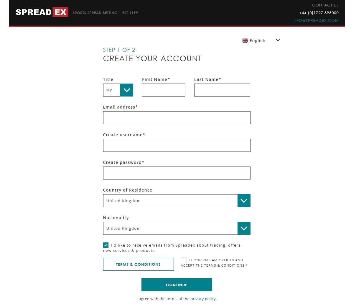 Registration at Spread ex