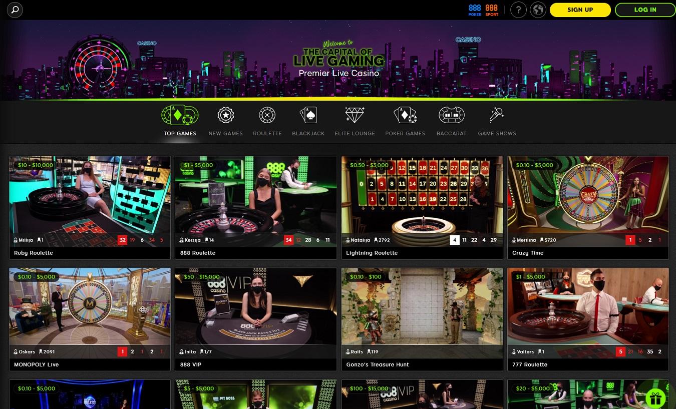888casino live dealers