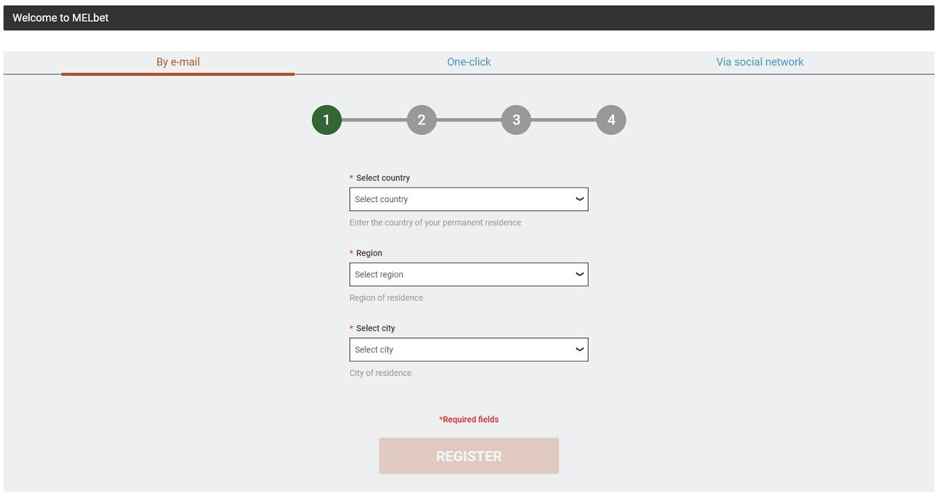 registration at melbet