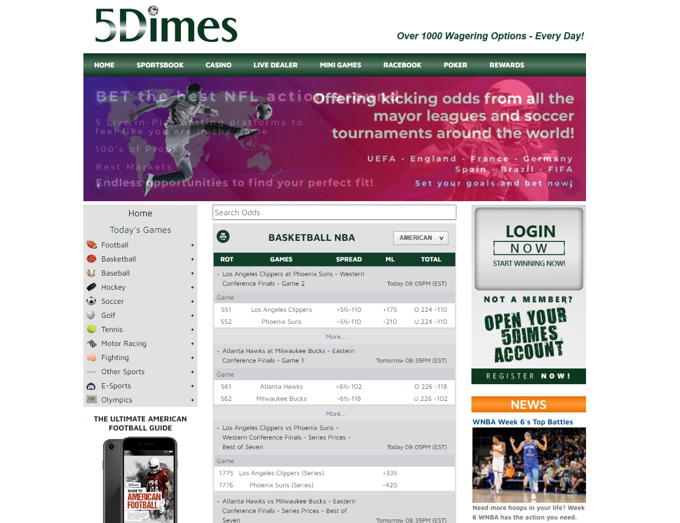 Betting 5Dimes