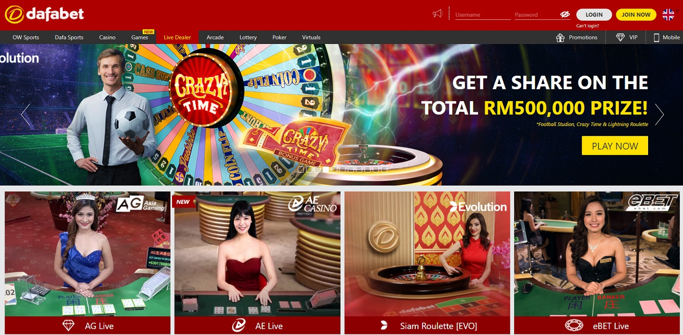 live dafabet casino