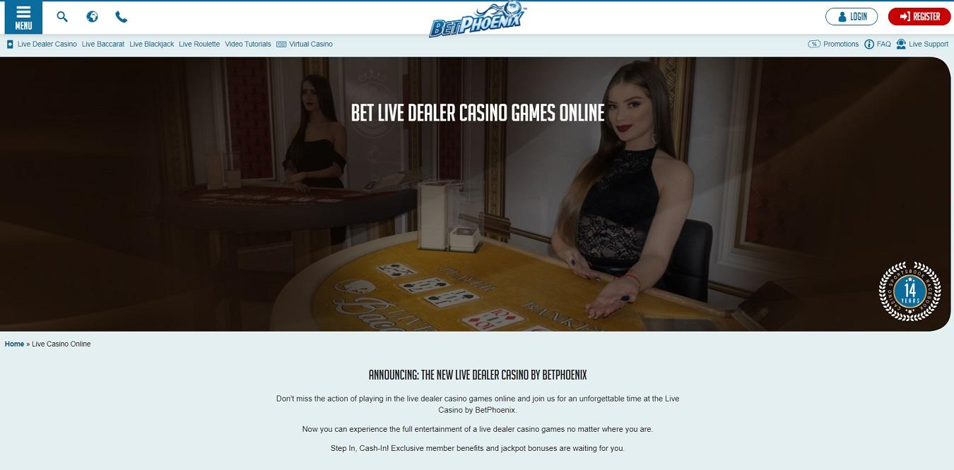 Betphoenix live casino